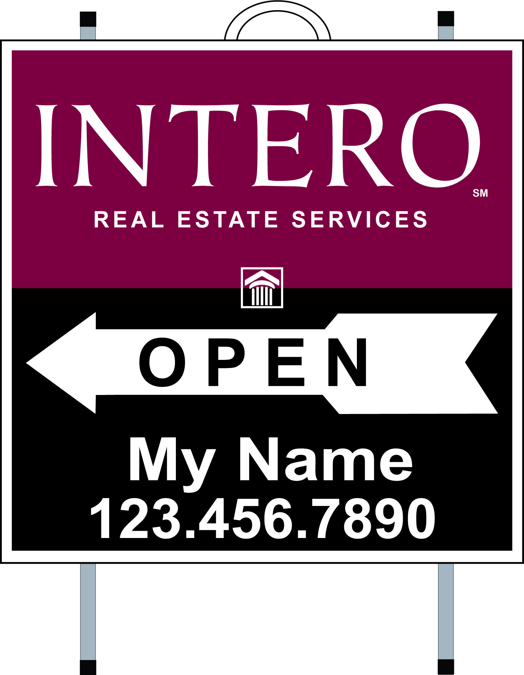 Intero PVC Open House A Frames Template 1 (Copy) - Real Estate Signs ...